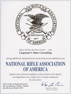 NRA Business Affiliate Certificate