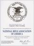 NRA Business Affiliate Certificate